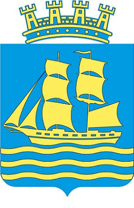bilde av bredbånd Grimstad og kommunevåpen