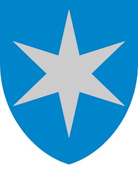 bilde av bredbånd Steinkjer og kommunevåpen